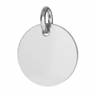 Sterling Silver Disc Charm 10mm For Engraving